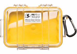 Pelican Micro Case # 1020 - Clear With YELLOW Liner