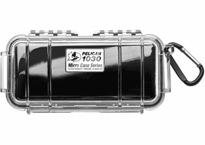 Pelican Micro Case # 1030 - Clear With BLACK Liner