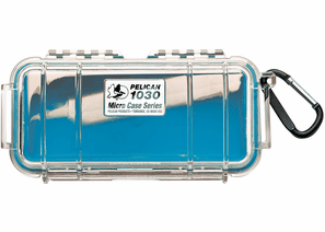 Pelican Micro Case # 1030 - Clear With Blue Liner