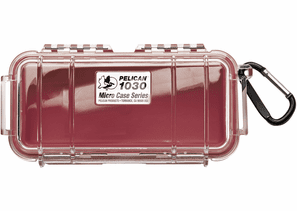 Pelican Micro Case # 1030 - Clear With Red Liner