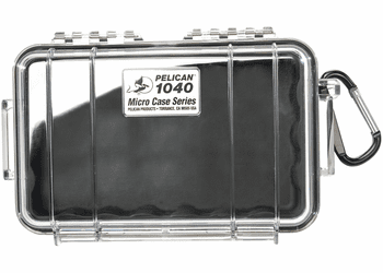 Pelican Micro Case # 1040 - Clear With BLACK Liner