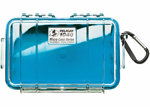 Pelican Micro Case # 1040 - Clear With Blue Liner