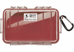 Pelican Micro Case # 1040 - Clear With Red Liner