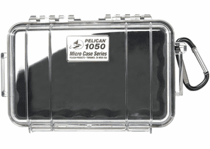 Pelican Micro Case # 1050 - Clear With BLACK Liner