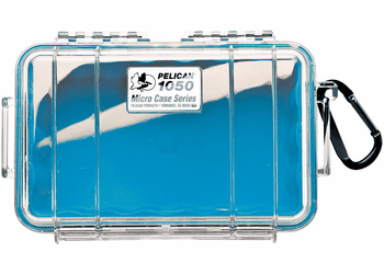 Pelican Micro Case # 1050 - Clear With Blue Liner