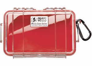 Pelican Micro Case # 1050 - Clear With Red Liner