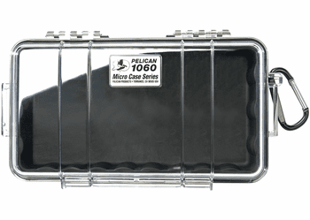 Pelican Micro Case # 1060 - Clear With BLACK Liner