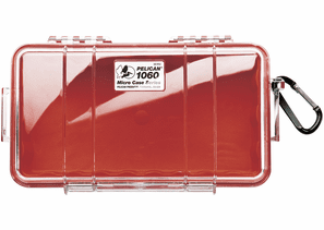 Pelican Micro Case # 1060 - Clear With Red Liner