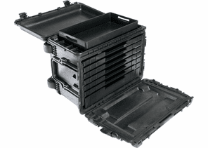 Pelican Tool Case 0450 - With Drawers 6 Shallow And 1 Deep