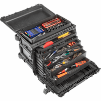 Pelican Tool Case 4 SHALLOW & 2 DEEP DRAWERS BLACK 0450-4S-2D
