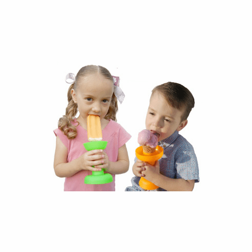 Dripstik No Mess Ice Cream Cone & Frozen Treat Double Sided Holder & Popsicle Maker