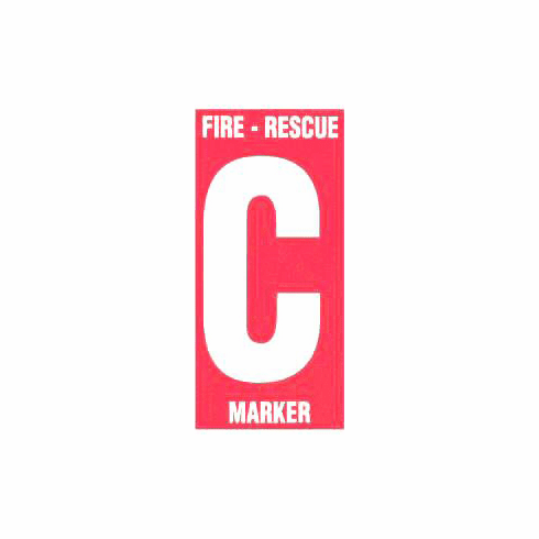 Fire Rescue Marker Child Finder Decals for Outside Windows - 2 Pack