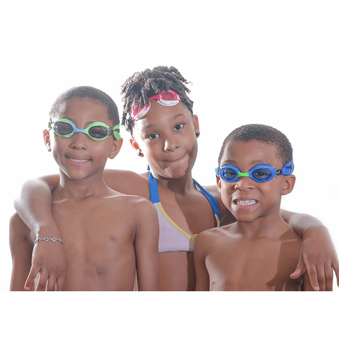 Kids Neoprene Adjustable Swimming Frogglez Goggles with Elastic Straps