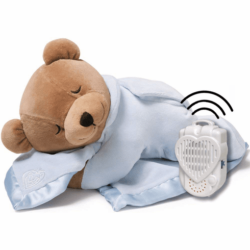 Prince Lionheart Original Slumber Womb Sound Teddy Bear and Silkie Blanket