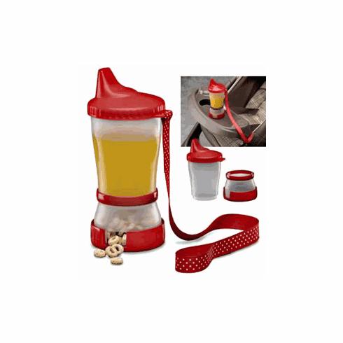 Sip 'N Snak Non-Spill Sippy Cup with Snack Compartment Container by Mommy's Helper