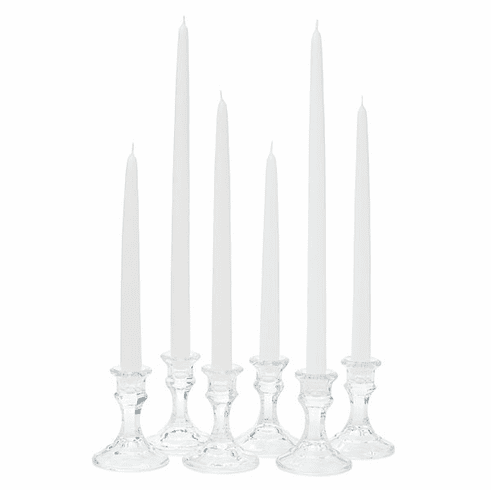 "10"" White Wedding Taper Candle"