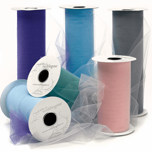 9 x 25 Wedding Ribbon Tulle Rolls