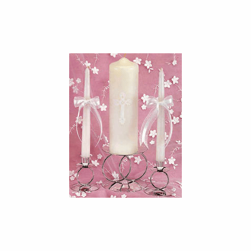 Bows Wedding Candle