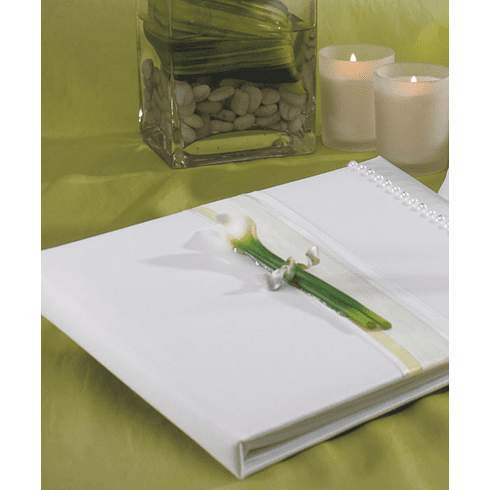 Bridal Beauty Calla Lily Wedding Guest Book