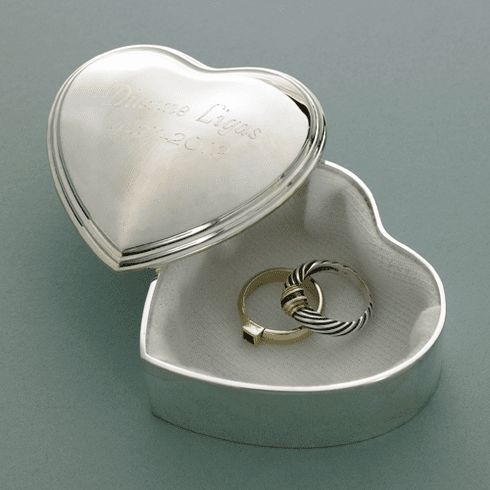 Bridesmaid Silver Trinket Box Personalized Heart