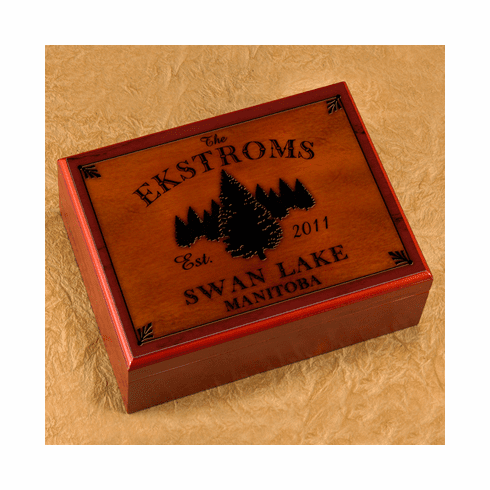 Cabin Series Personalized Humidor - Spruce