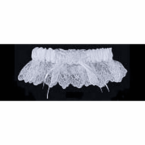 Embroidered with Lace Bridal Garter