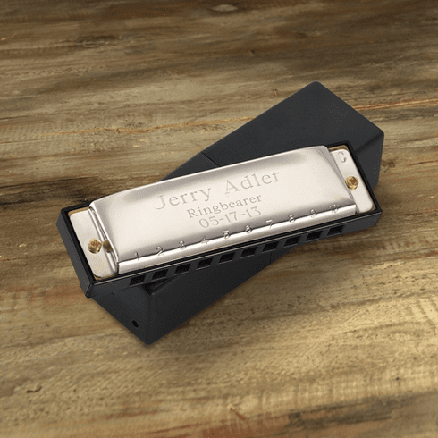 "High Polish ""Hohner"" Personalized Harmonica"