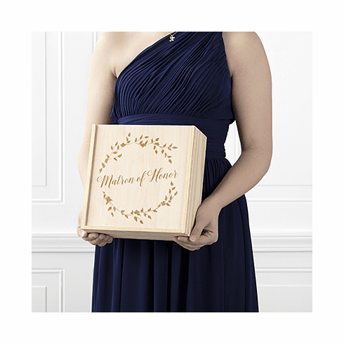 Matron of Honor Floral Wreath Attendant Box
