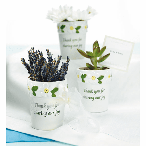 Mini Wedding Flower Pots with Floral Decoration