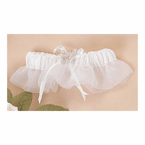 Organza with Butterfly Bridal Garter