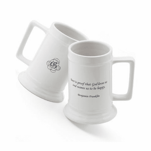 Personalized Beer Stein with Famous Quotes
