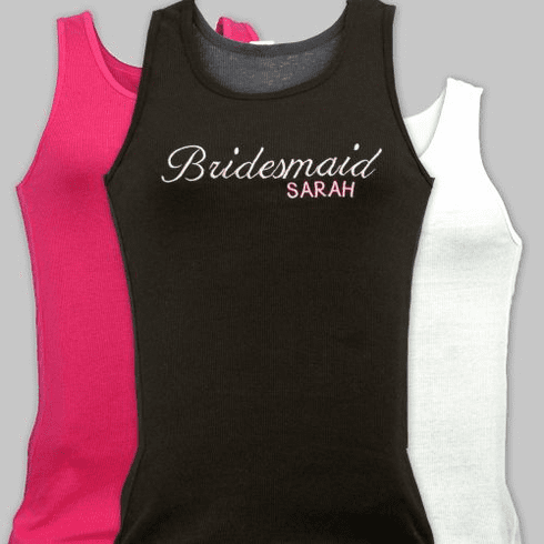 Personalized Bridal Party Tank
