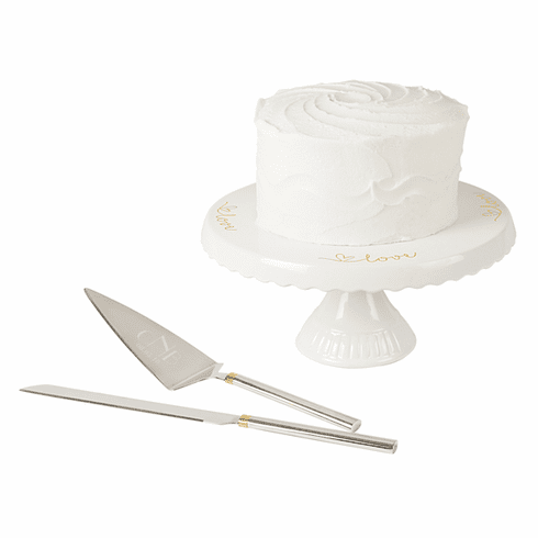 Personalized Cake Stand and Server Set