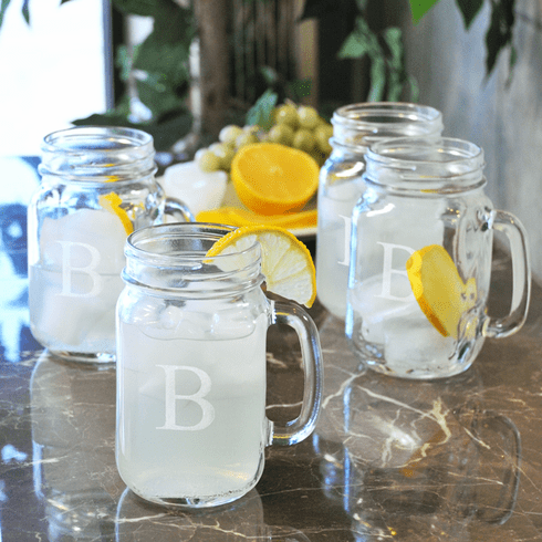 Personalized Drinking Jars Set of 4