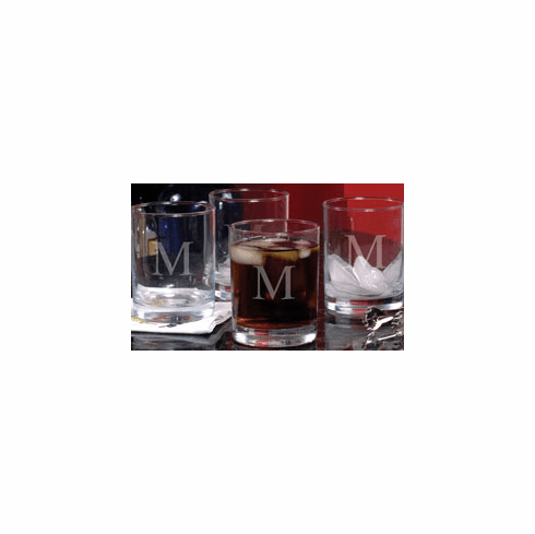 Personalized Etched Drinking Glasses (Set of 4)