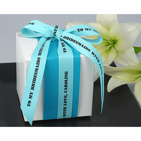 """Personalized Gift Ribbon Textured 5/8"""" Wide"""