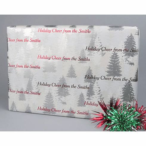 Personalized Gift Wrap Christmas Tree