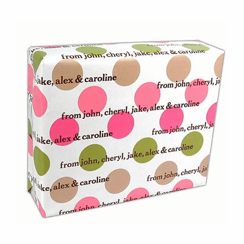 Personalized Gift Wrap Summer Spots