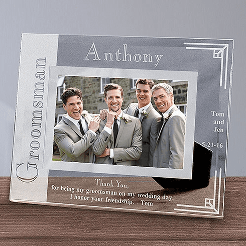Personalized Groomsmen Glass Picture Frame
