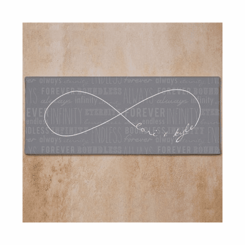 Personalized Infinity Symbol Wedding Canvas