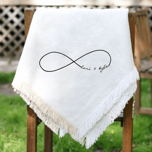 Personalized Infinity Symbol Wedding Throw