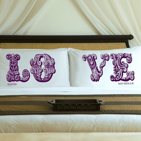 Personalized Love Pillow Case Set