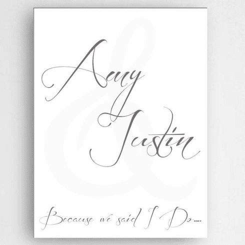 Personalized Love & Romance Canvas Sign