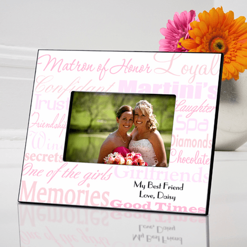 Personalized Matron of Honor Frame