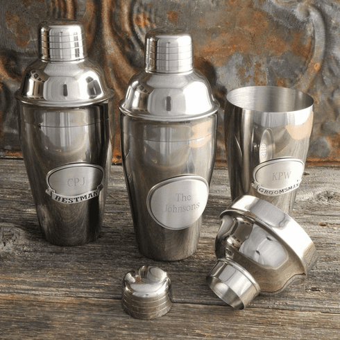 Personalized Mixologist Cocktail Shaker w/Pewter Medallion