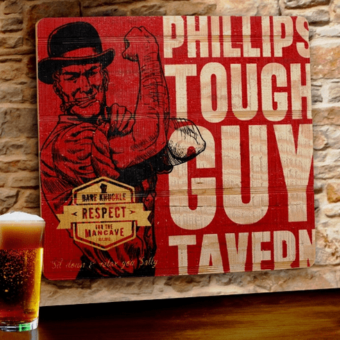 Personalized Tough Guy Tavern Sign
