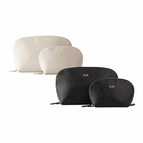 Personalized Two Piece Vegan Leather Travel Set