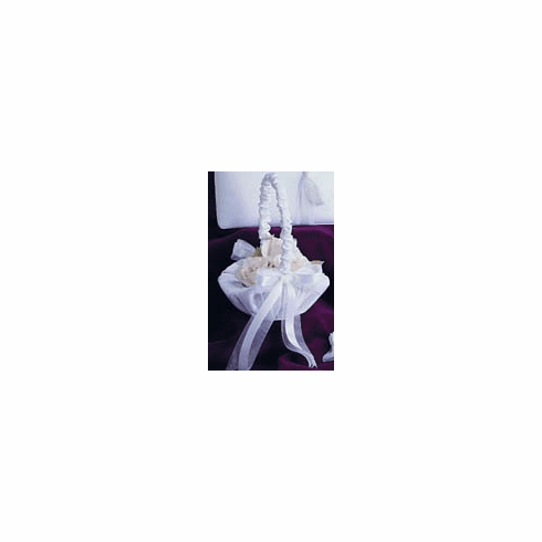 Satin and Organza Bow Collection Flower Girl Basket