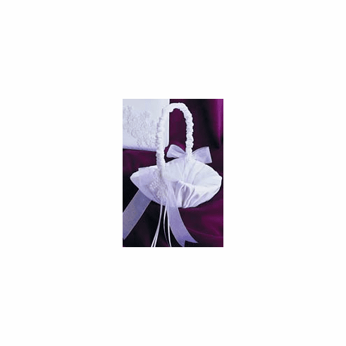 Satin Pearl and Lace Collection Flower Girl Basket