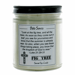 Bible Scents 9 oz Highly Scented Soy Candle with Bible Verse - Fig Tree